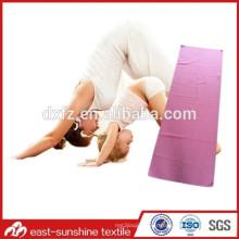Serviette de yoga en microfibres avec tout logo personnalisé, magnifique serviette de yoga, serviette de gym avec logo