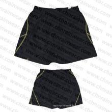 Shorts / Short de planche pour hommes en noir et blanc avec tissu en polyester