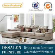 Adjustable Headrest High Quality Fabric Sofa Furniture (2023)
