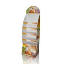 Pantalla de suelo de papel Pantalla de punto de venta con impresión Cmyk