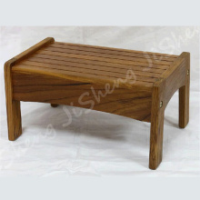 Premium solid teak wood construction step stool