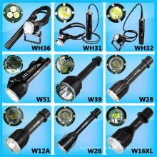 Nouvelle lampe de poche de plongée! 26650 Commutateur magnétique alimenté par batterie LED Torche de plongée LED Phare LED Lampe de poche