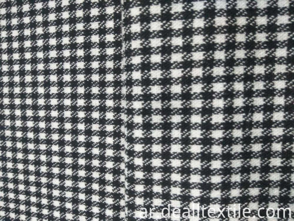 Checkered Pattern Design TR Fabric