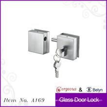 Square glass lock-double door glass door floor lock