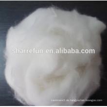 Reine Enthaarte Angora Kaninchen Faser Weiß 15.0MIC / 32-34MM