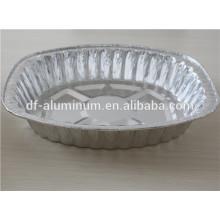 Einweg-Aluminiumfolie ovale Putenpfanne