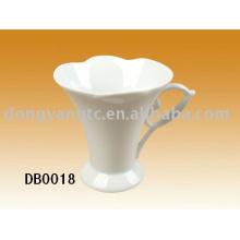 plain white ceramic mug