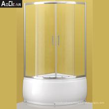 Aokeliya shower glass sliding door white color shower glass sliding door white color seamless shower enclosures