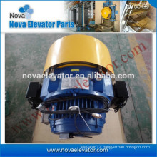 Elevator Traction Machine with Sheave Cover