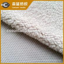 Tecido de lã berber 100 poliéster para inverno moletom com capuz