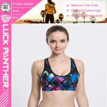 Fashion New Custom Sublimated Fitness Push Up sutiã Sports