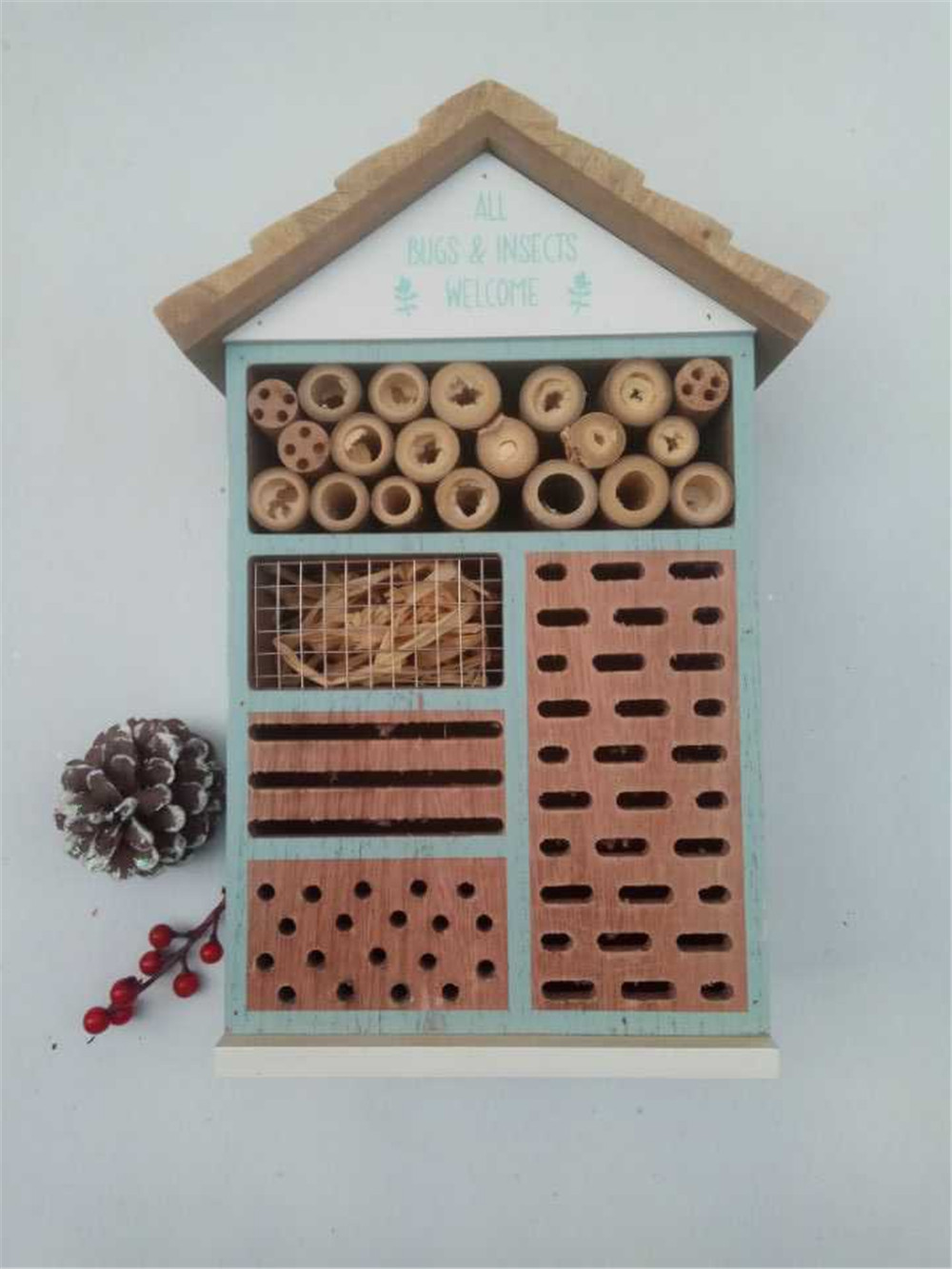 a house suitable for many insects