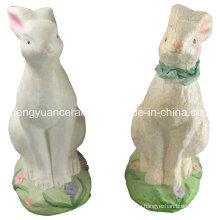 Кролик из фарфора в форме животных, пасхальный кролик