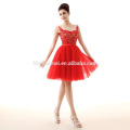 2017 New Design Cheap Price Red Lace Chiffon Formal Taobao Evening Dress For Party