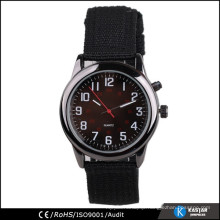 stainless steel back watch with nylon strap 2015