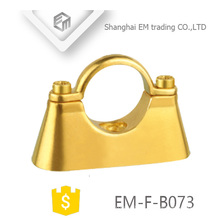 EM-F-B073 Wall mount dual purpose die cast Brass hanging pipe clamp
