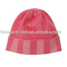 pink cashmere hat