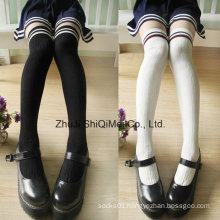 Combed Cotton School Students Knee-High Socks Stockings