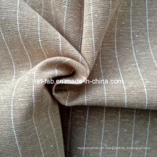 Linho / fio de algodão tingido tecidos de tecido (QF13-0769)