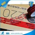 Cinta adhesiva personalizada de la cinta del cartón del ANIMAL DOMÉSTICO de la cinta de la seguridad de la cinta