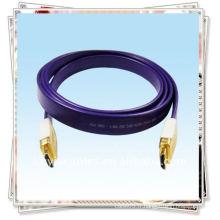 Câble HDMI plaqué or pour fil Gold Head pour HDTV