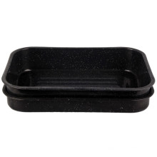 (LONGFEI) Deep Rectangle Form Emaille Barbecue Tray