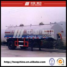 Reboque brandnew do tanque do aço carbono Q345 17900L para a entrega clara do óleo diesel
