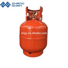 China Hersteller von 9KG Home Used LPG Flaschen geschweißten Lagertank