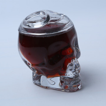 Skull Head Glass Candy Jar / Sugar Pot con tapa