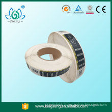 Factory price hot selling barcode garment labels