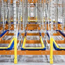 Паллета пакгауза нажимает назад систему для одежды, прочные стеллажи/металлические стеллажи /складские стеллажи/складские отодвинуть шкафы хранения