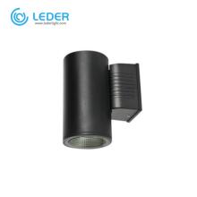 LEDER Waterproof BLack 5W*2 Outdoor Wall Light