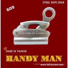 609 Stahl verchromt Fallschutz Stahl Seilgreifer