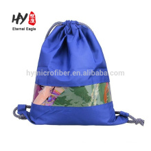 Waterproof quality polyester backpack with pvc window