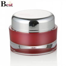 cosmetic packaging 50ml red acrylic plastic jar for cream