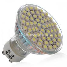 Dimmable GU10 LED bombilla de luz Spot Lampen 60 3528 SMD 4500k