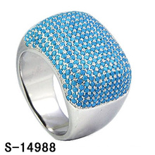 Nuevo diseño de joyería de moda 925 anillo de plata de ley con turquesa