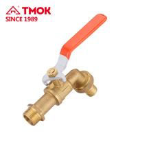 DN15 fábrica directo temperatura normal cw617 material brassy válvula de control de grifo natural con estructura de seguridad en china