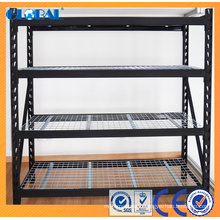 Powder Coated Industrial storage rack with zinc plated wire decking