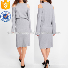 Открытое плечо ребристая Футболка & юбка комплект Производство Оптовая продажа женской одежды (TA4105SS)