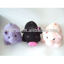 boîte d'économie de cochon en peluche et en peluche, banque de pièces d'animaux