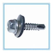 Tornillo autorroscante de la cabeza de la arandela del maleficio con la lavadora plástica (DIN7504K / ISO15480)