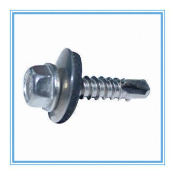 Parafuso da perfuração do auto da cabeça da arruela do Hex com arruela plástica (DIN7504K / ISO15480)