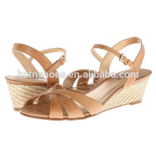 Women Fashion Wedge Shoes Low Price Espadrille High Heel Pumps for Ladies