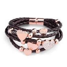 Браслет из итальянской модной плетеный браслет из кожи