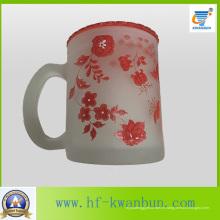 Taza de cristal de buen precio de alta calidad con la calcomanía Kb-Hn0725