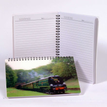 Cuaderno de papel en blanco de la cubierta lenticular del diseño 3D