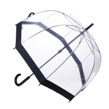 Manuelle Open Black Edge Straight Lady Umbrella (BD-67)