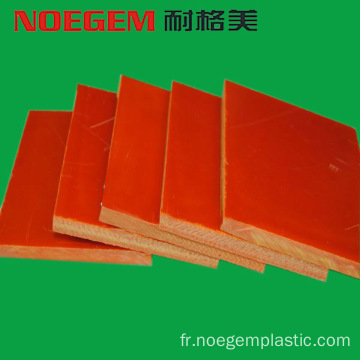 Feuille de plastique bakélite orange