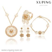 63737-Xuping Fashion Wedding Flower Jewelry Classic Jewelry Set para mujeres